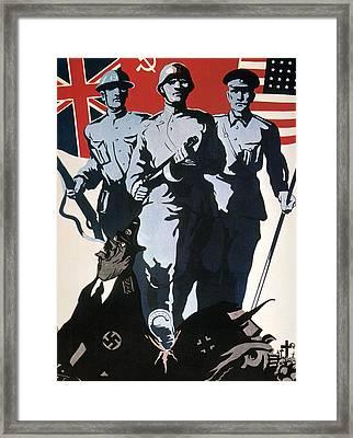 World War II: Soviet Poster Framed Print