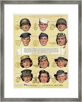 World War II: U.s. Forces Framed Print by Granger