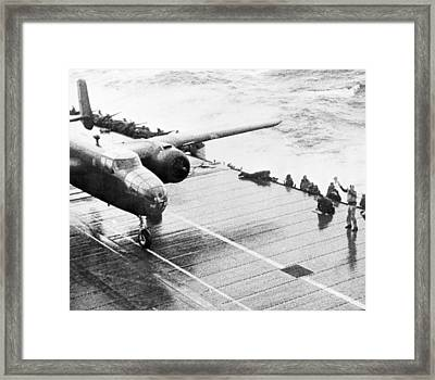 World War II: Uss Hornet Framed Print
