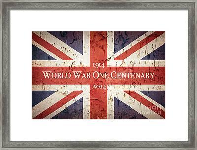 World War One Centenary Union Jack Framed Print by Jane Rix