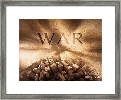 World War  Framed Print by Stefano Senise