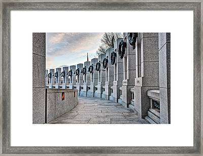 World War Two Memorial  Framed Print by JC Findley