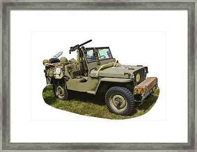 World War Two - Willys - Army Jeep  Framed Print