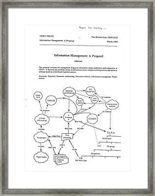 World Wide Web By Berners-lee Framed Print by Cern