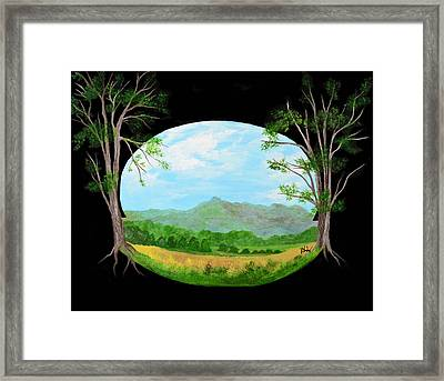 World Within Framed Print by Barbara Willms