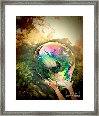 World Within Framed Print by Jasna Buncic
