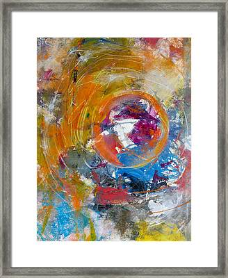 Framed Print featuring the painting Worldly  by Katie Black