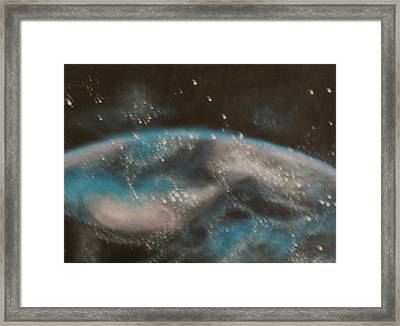Framed Print featuring the painting Worldly by Thomasina Durkay