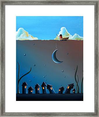 Worlds Apart Framed Print