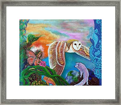 Worlds Away Framed Print by Laura Barbosa