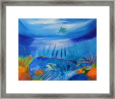 Worlds Below The Sea Framed Print