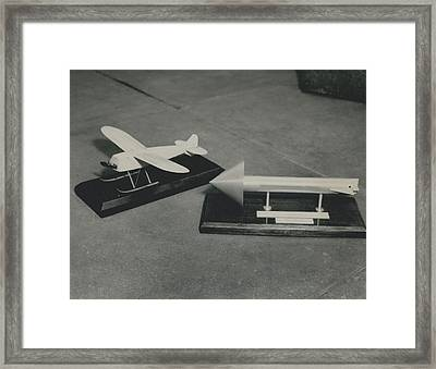 World�s First Guided Missile Control Gear Handed Over To Framed Print by Retro Images Archive