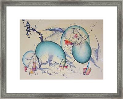 Worlds In Genesis Framed Print by Asha Carolyn Young