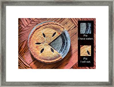 Worlds Most Accurate Pie Chart Framed Print by JC Findley