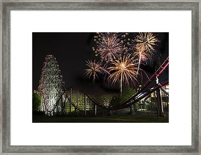 Worlds Of Fun - Summer Nights Framed Print by Thomas Zimmerman