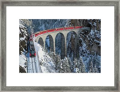 World's Top Train - Bernina Express Framed Print