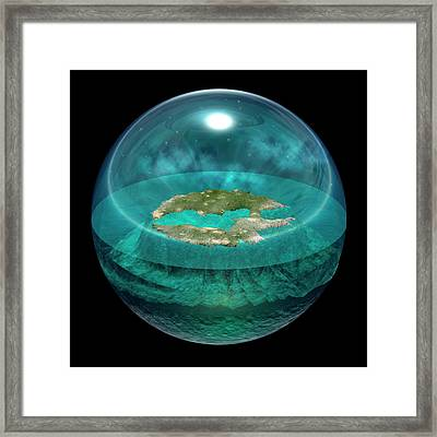 Worldview Of Thales Of Miletus Framed Print by Carlos Clarivan