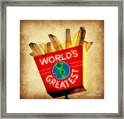 World's Greatest Fries Framed Print