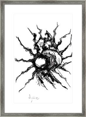 Worm Hole Framed Print
