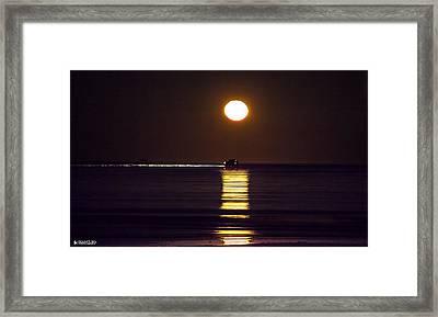 Worm Moon Rising Framed Print