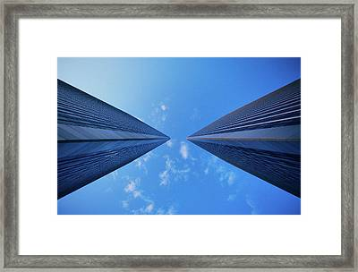 Worms Eye View Of The Century City Framed Print