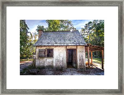 Wormsloe Cabin Framed Print