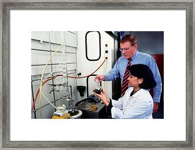 Wormwood Oil Analysis Framed Print