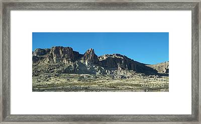 Framed Print featuring the photograph Western Landscape by Eunice Miller