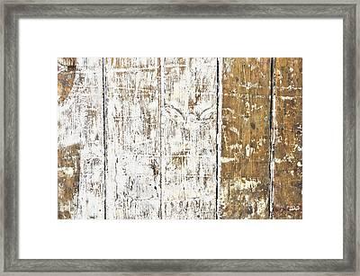 Worn Wood  Framed Print by Tom Gowanlock