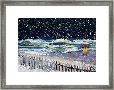 Worry About High Tide Framed Print