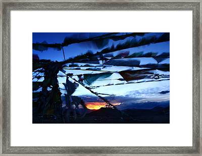 Worship Moment Framed Print