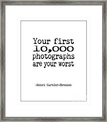 Worst Photographs Framed Print