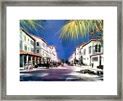 Worth Ave 1925 Framed Print