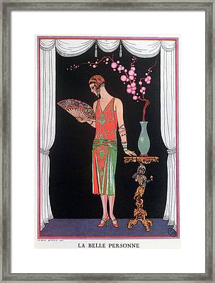 Worth Evening Dress Fashion Plate From Gazette Du Bon Ton Framed Print