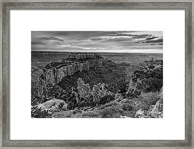 Wotan's Throne North Rim Grand Canyon National Park - Arizona Framed Print by Silvio Ligutti