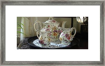 Would Anyone Like Any Tea Framed Print by Saad Hasnain