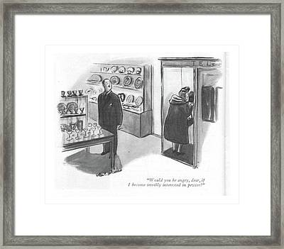 Would You Be Angry Framed Print by Helen E. Hokinson