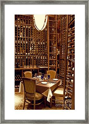 Would You Join Me For A Glass My Dear Framed Print by Paulette B Wright
