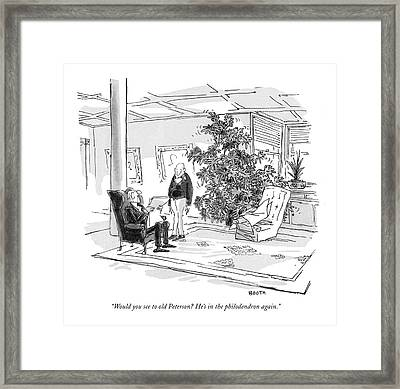 Would You See To Old Peterson? He's Framed Print by George Booth