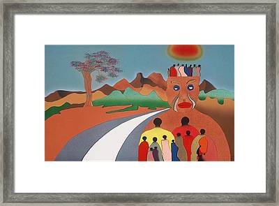 Wouldn't Take Nothing For My Journey Now Framed Print