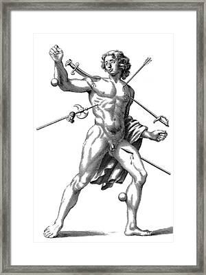 Wound Man, 1678 Framed Print