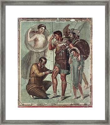 Wounded Aeneas. 2nd Half 1st C Framed Print