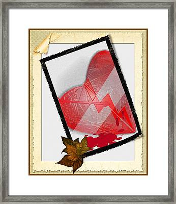 Wounded Heart Framed Print by Sherry Gombert