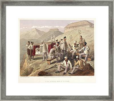 Wounded Men At Dugshai Framed Print by British Library