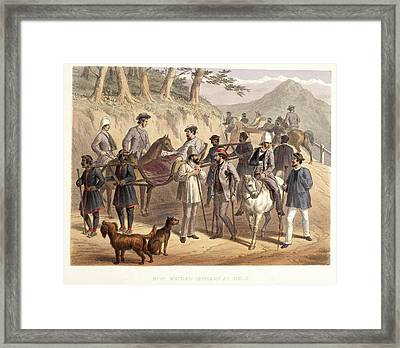 Wounded Officers At Simla Framed Print