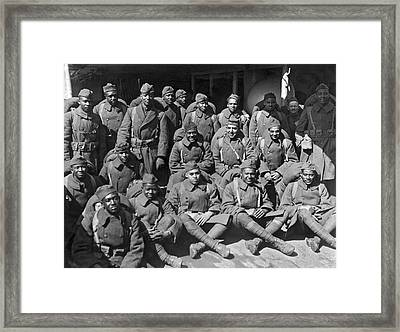 Wounded Soldiers Return Framed Print by Underwood Archives