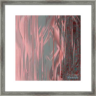 Framed Print featuring the digital art Wounds - Abstract Art By Giada Rossi by Giada Rossi