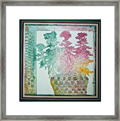 Woven Basket Framed Print by Carolyn Rosenberger