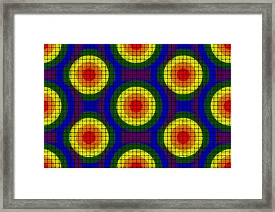 Woven Circles Framed Print