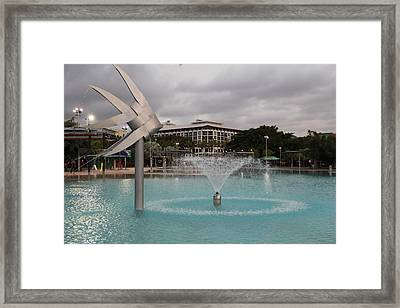 Woven Fish Fountain. Framed Print